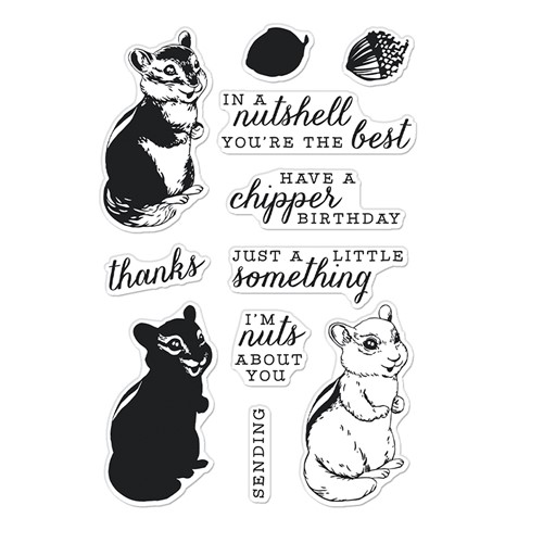 Hero Arts Clear Stamps COLOR LAYERING CHIPMUNK CM568 Preview Image