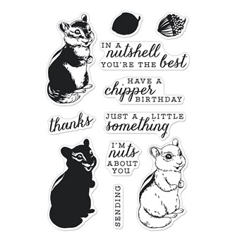 Hero Arts Clear Stamps COLOR LAYERING CHIPMUNK CM568