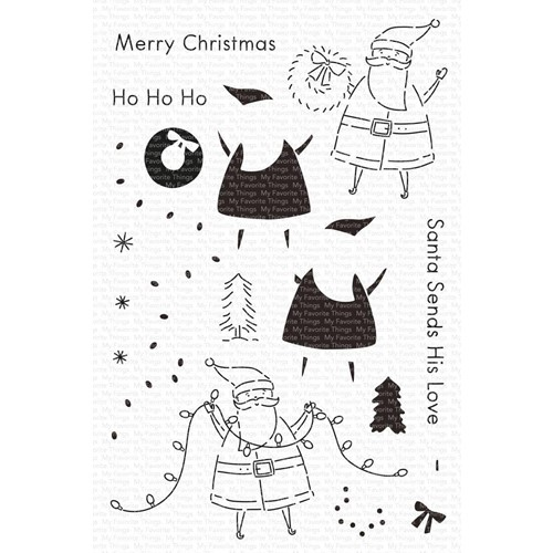 My Favorite Things SANTA SENDS HIS LOVE Clear Stamps cs597 Preview Image