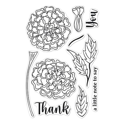 Hero Arts Clear Stamps MARIGOLDS CM566 Preview Image