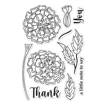 Hero Arts Clear Stamps MARIGOLDS CM566