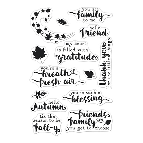 Hero Arts Clear Stamps HELLO AUTUMN CM571 Preview Image