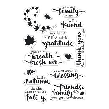 Hero Arts Clear Stamps HELLO AUTUMN CM571