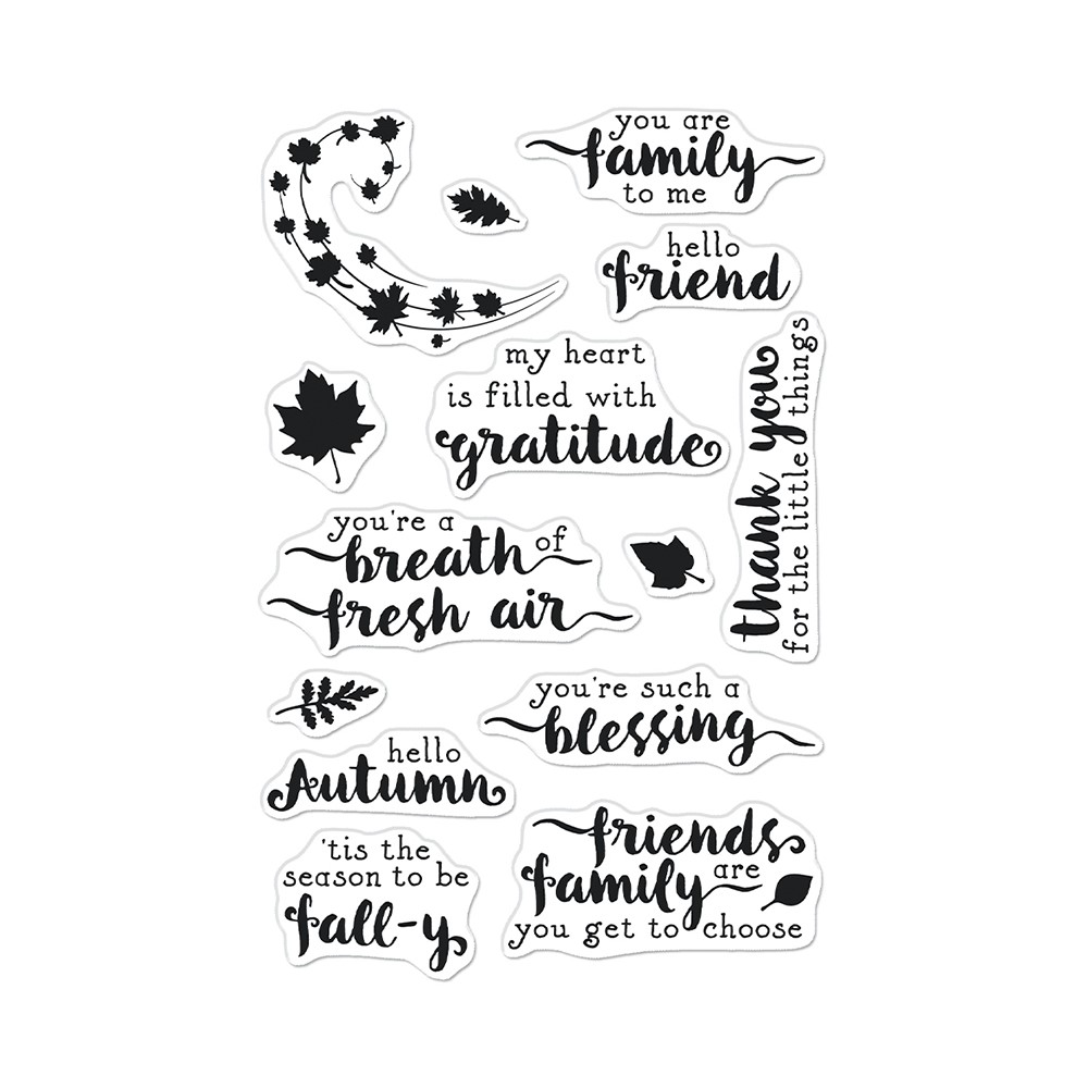 Hero Arts Clear Stamps HELLO AUTUMN CM571 zoom image