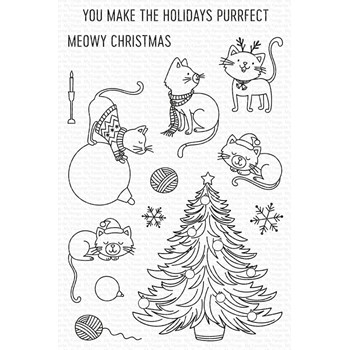 My Favorite Things MEOWY CHRISTMAS Clear Stamps cs593