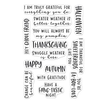 Hero Arts Clear Stamps AUTUMN MESSAGES CM569