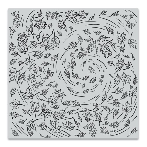 Hero Arts Cling Stamp LEAVES IN THE WIND BOLD PRINTS CG862 Preview Image