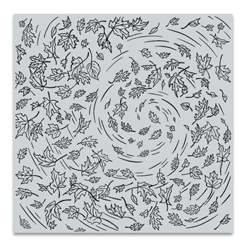 Hero Arts Cling Stamp LEAVES IN THE WIND BOLD PRINTS CG862
