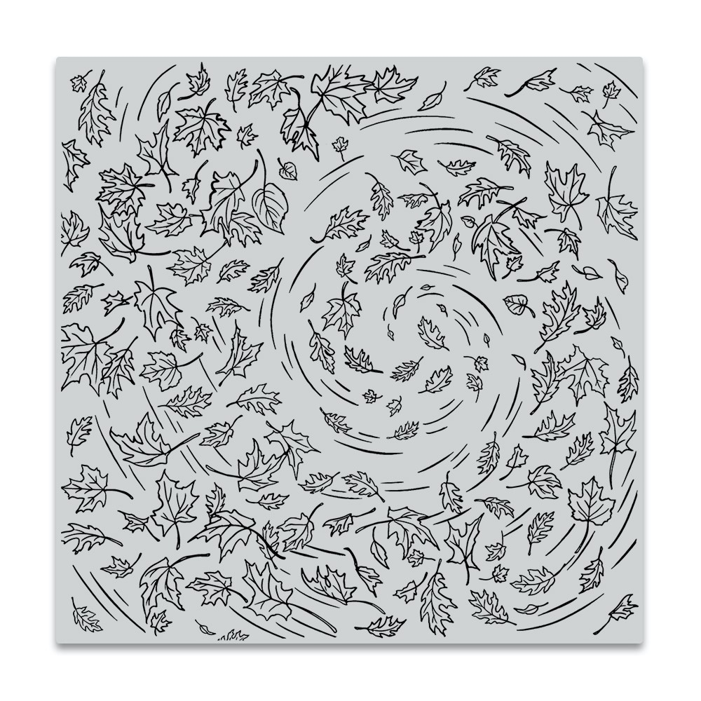 Hero Arts Cling Stamp LEAVES IN THE WIND BOLD PRINTS CG862 zoom image