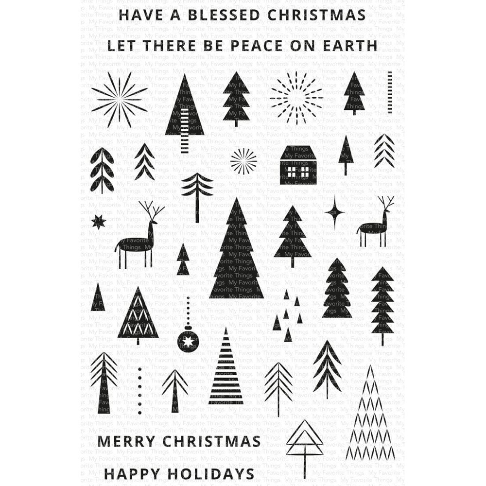 My Favorite Things ICONIC CHRISTMAS Clear Stamps cs592 zoom image