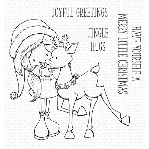 My Favorite Things JINGLE HUGS Clear Stamps ti010 Preview Image