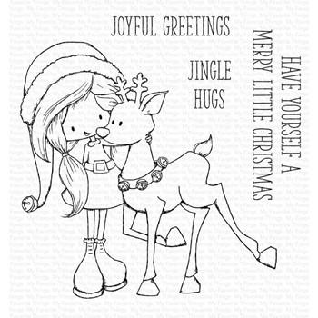 My Favorite Things JINGLE HUGS Clear Stamps ti010