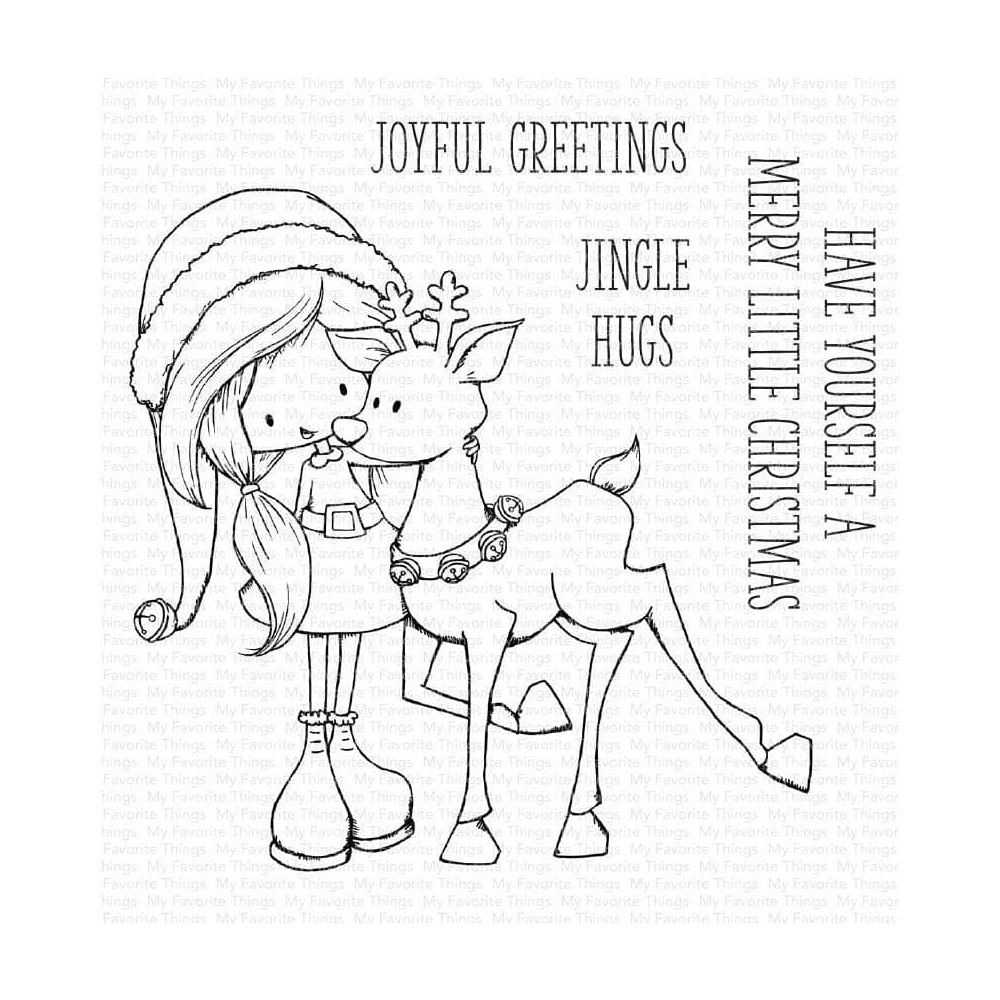 My Favorite Things JINGLE HUGS Clear Stamps ti010 zoom image