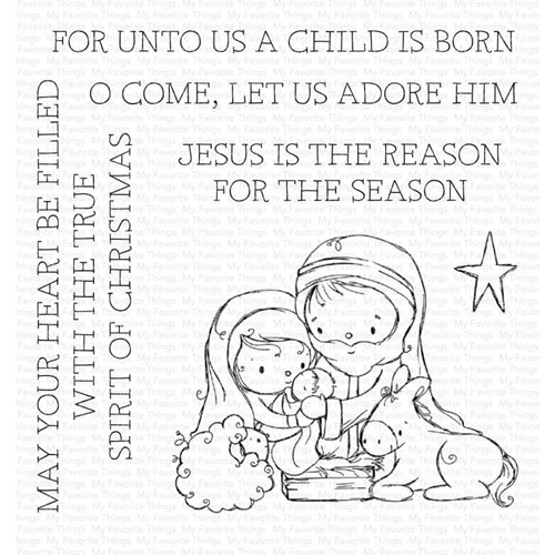 My Favorite Things AWAY IN A MANGER Clear Stamps ram024 Preview Image