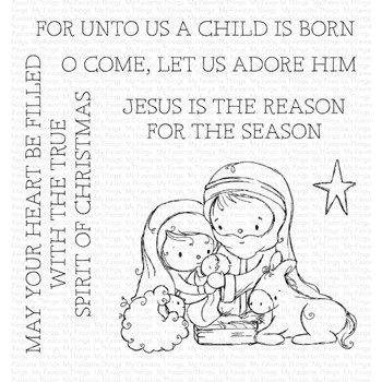 My Favorite Things AWAY IN A MANGER Clear Stamps ram024