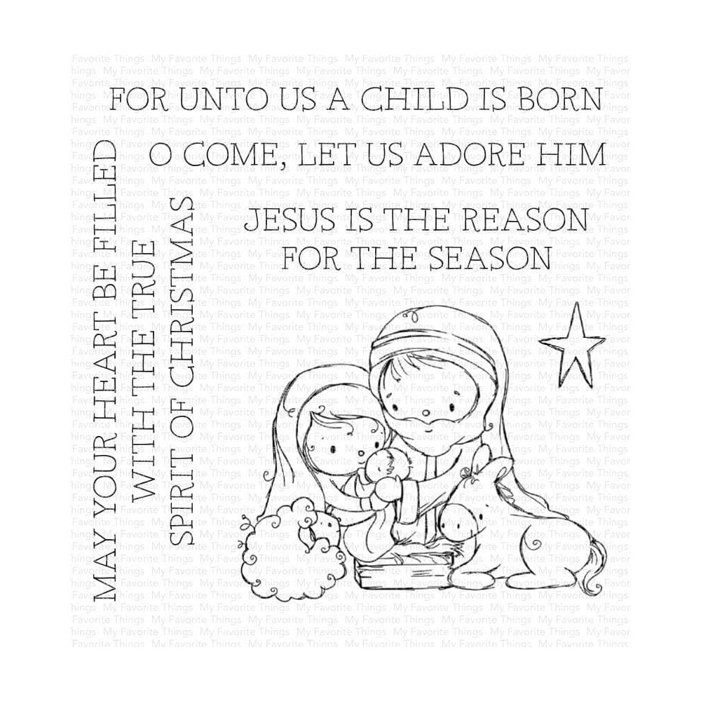 My Favorite Things AWAY IN A MANGER Clear Stamps ram024 zoom image