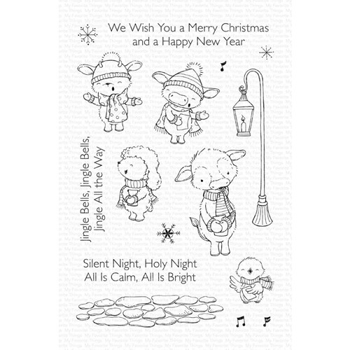 My Favorite Things CHRISTMAS CAROLS Clear Stamps sy39 Preview Image