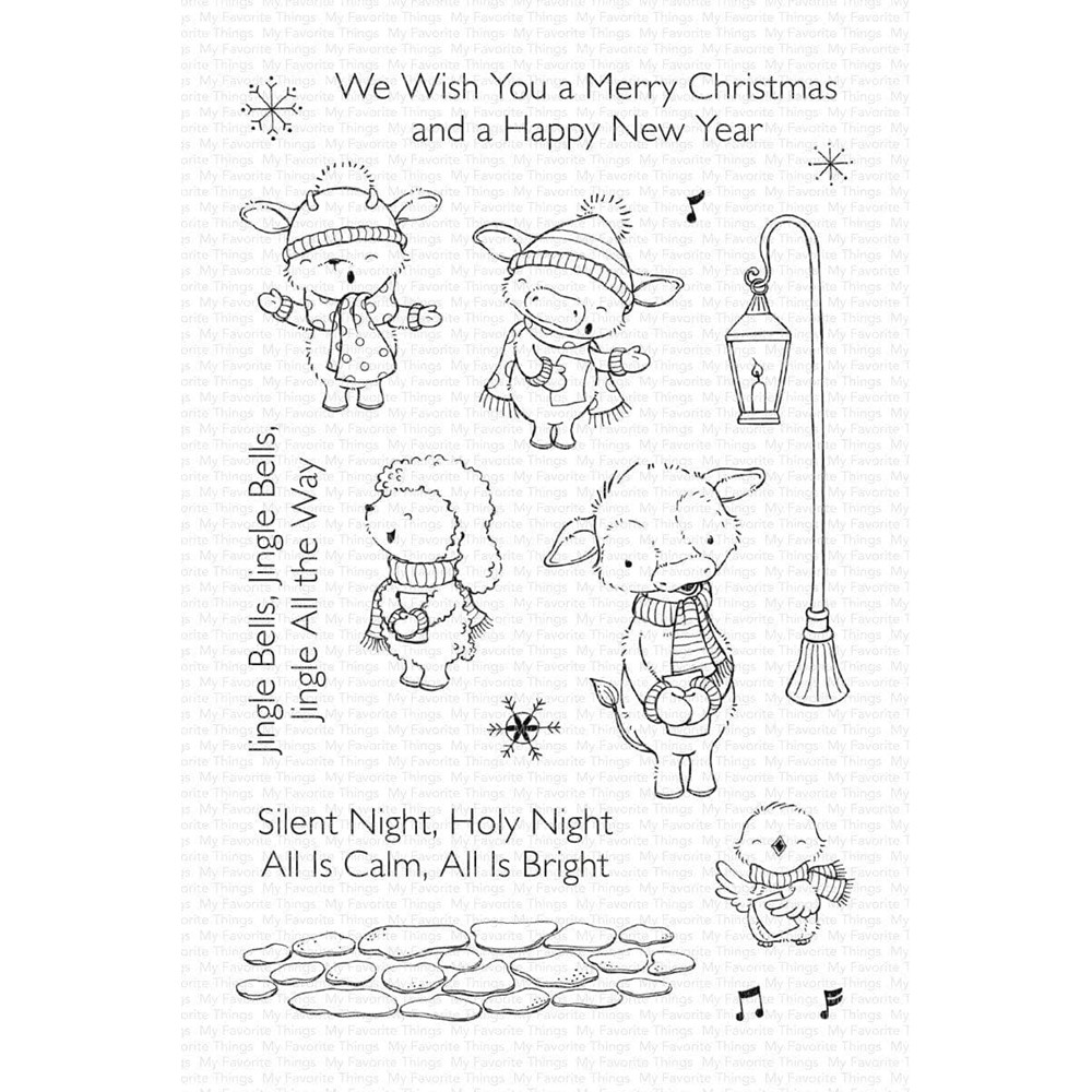 My Favorite Things CHRISTMAS CAROLS Clear Stamps sy39 zoom image