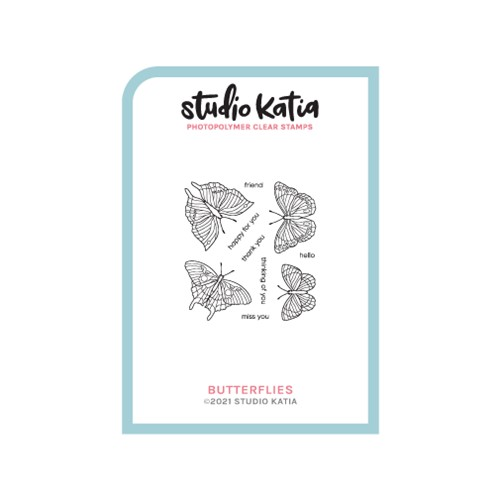 Studio Katia BUTTERFLIES Clear Stamps skcs122 Preview Image