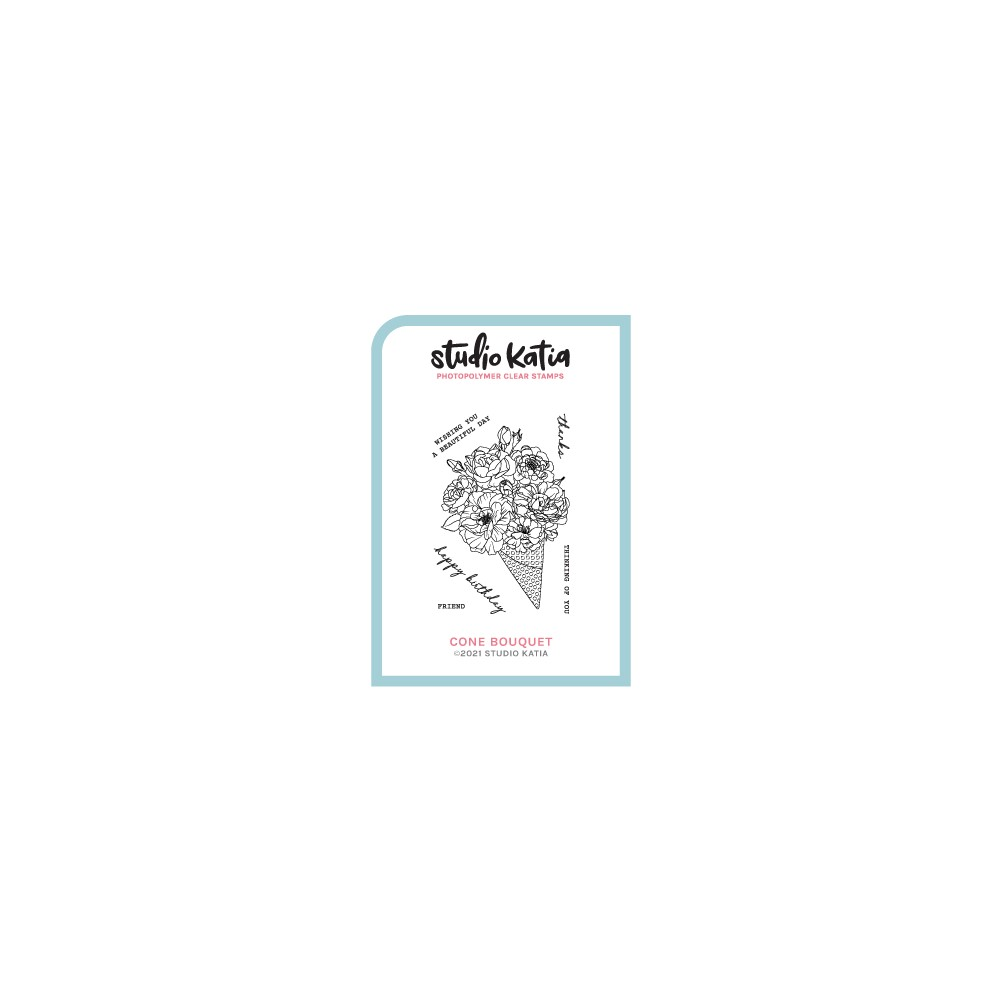 Studio Katia CONE BOUQUET Clear Stamps skcs121 zoom image