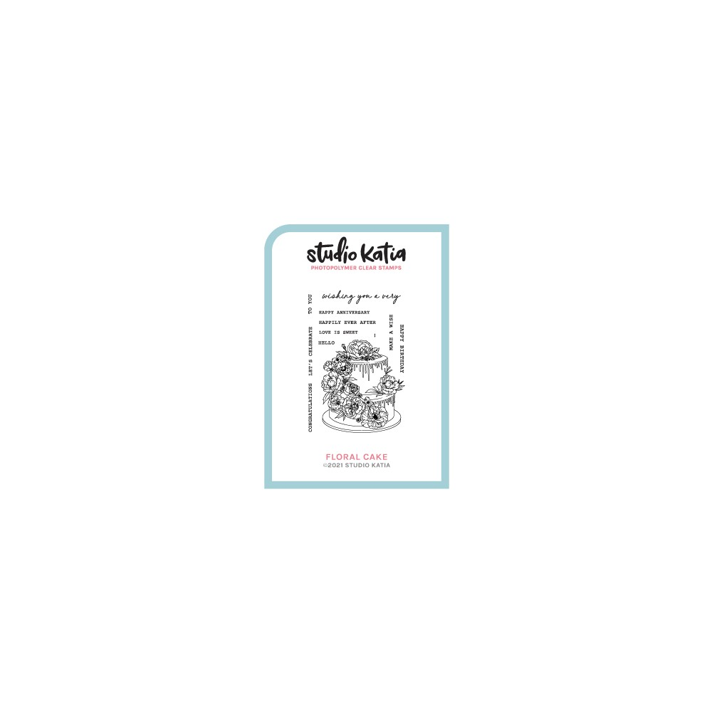 Studio Katia FLORAL CAKE Clear Stamps skcs120 zoom image