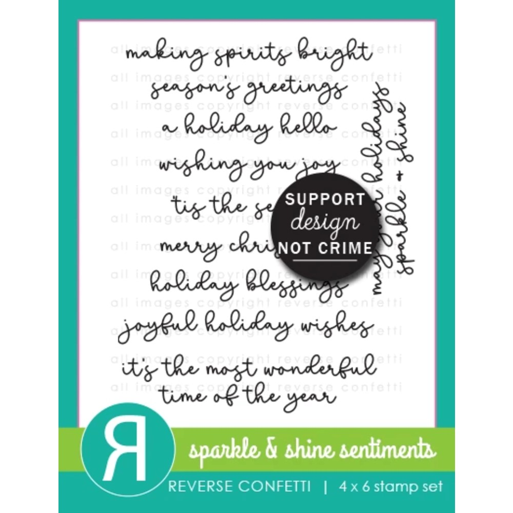 Reverse Confetti SPARKLE AND SHINE SENTIMENTS Clear Stamps rvc776 zoom image