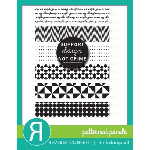 Reverse Confetti PATTERNED PANELS Clear Stamps Preview Image