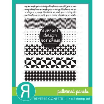 Reverse Confetti PATTERNED PANELS Clear Stamps