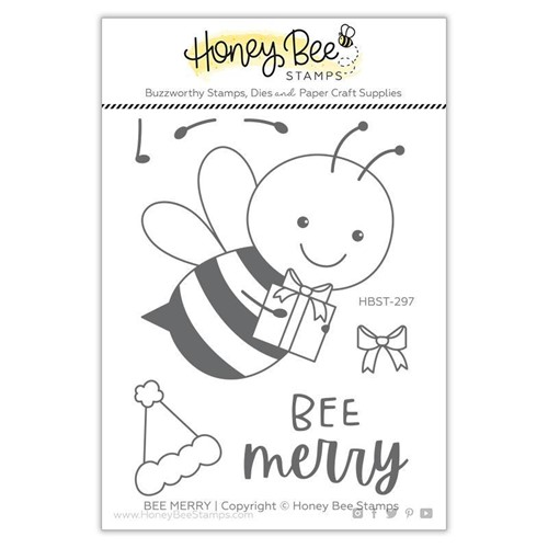 Honey Bee MERRY Clear Stamp Set hbst297 Preview Image