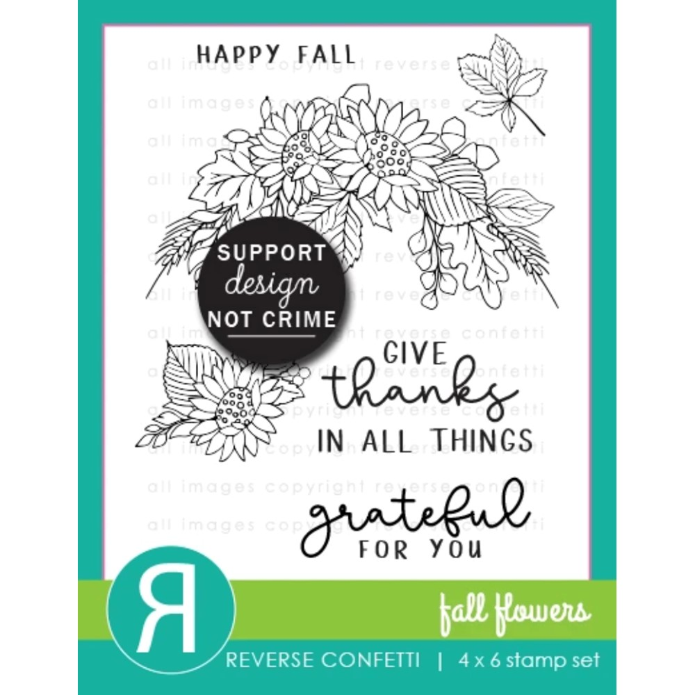 Reverse Confetti FALL FLOWERS Clear Stamps zoom image