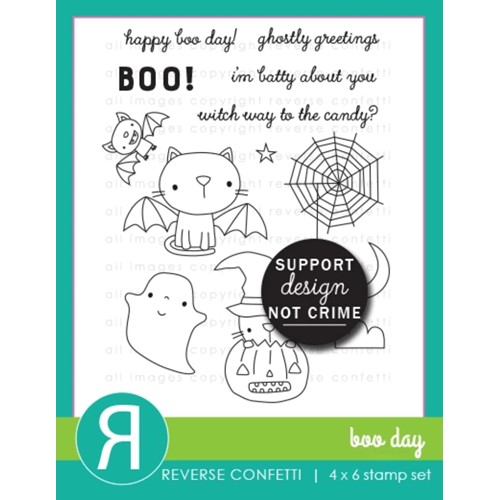 Reverse Confetti BOO DAY Clear Stamps Preview Image