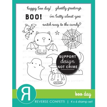 Reverse Confetti BOO DAY Clear Stamps
