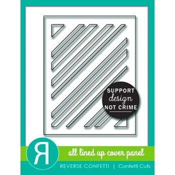 Reverse Confetti Cuts ALL LINED UP Cover Panel Die