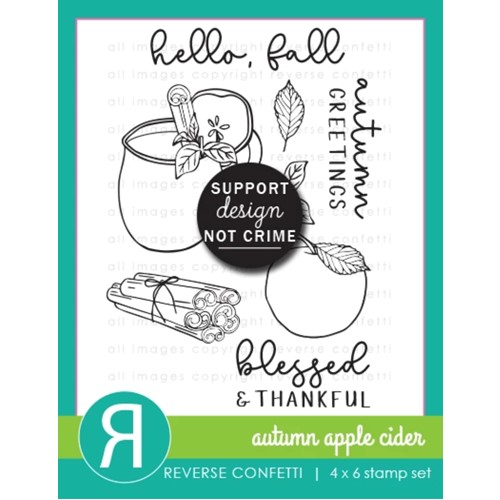 Reverse Confetti AUTUMN APPLE CIDER Clear Stamps Preview Image