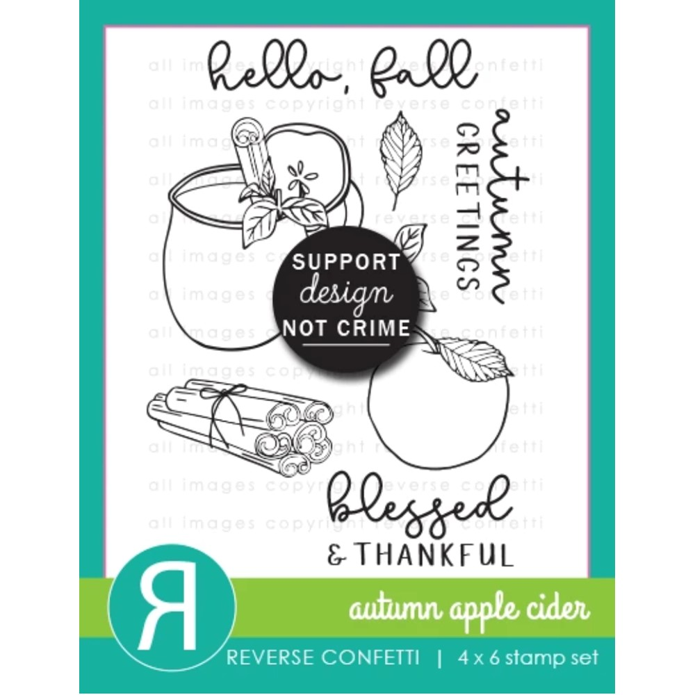 Reverse Confetti AUTUMN APPLE CIDER Clear Stamps zoom image