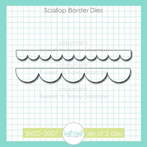 Sweet 'N Sassy SCALLOP BORDER Dies snsd0007 Preview Image