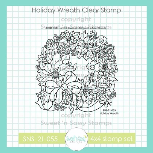 Sweet 'N Sassy HOLIDAY WREATH Clear Stamp Set sns21055 Preview Image