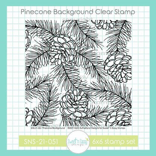 Sweet 'N Sassy PINECONE BACKGROUND Clear Stamp Set sns21051 Preview Image