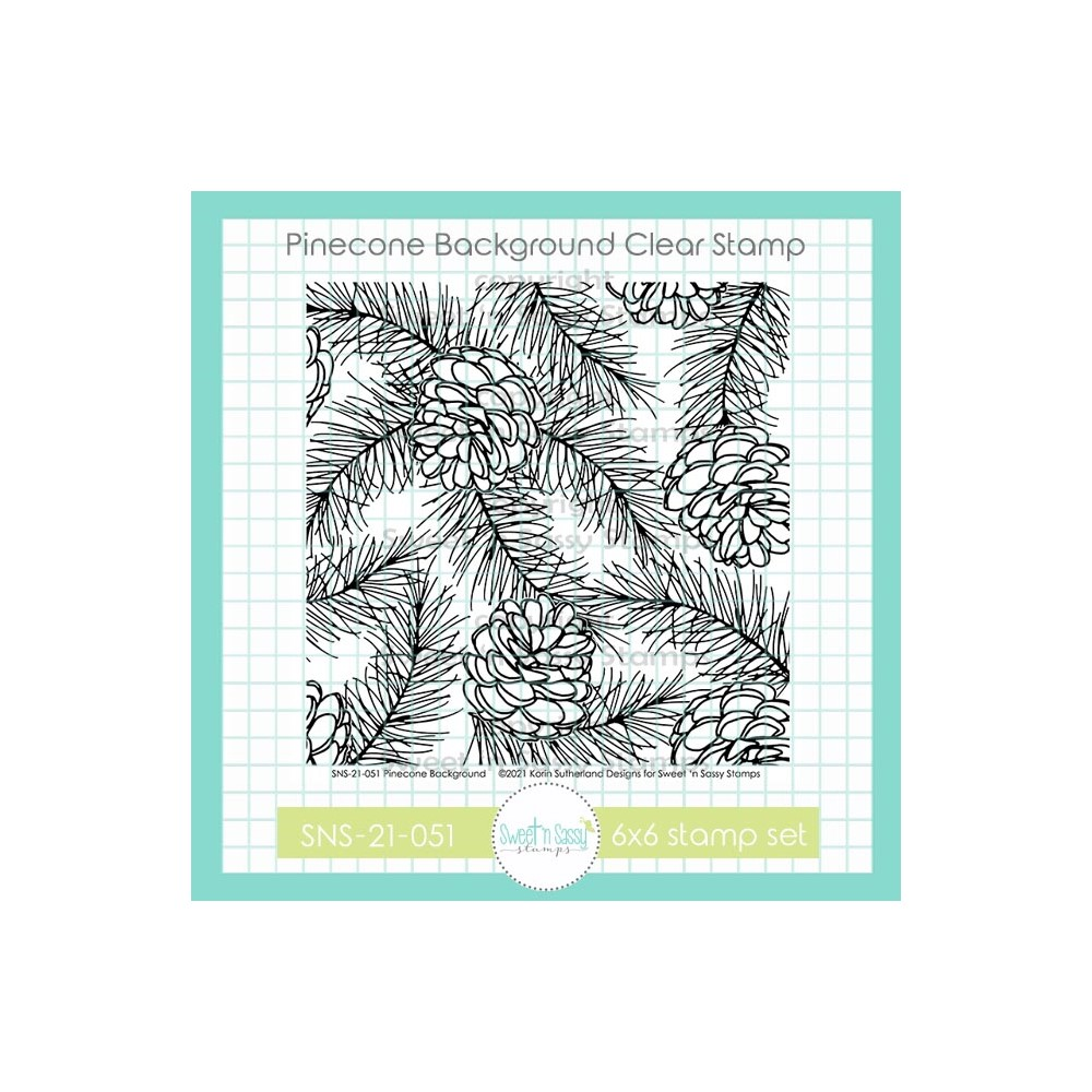 Sweet 'N Sassy PINECONE BACKGROUND Clear Stamp Set sns21051 zoom image
