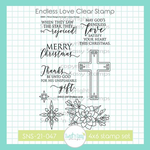 Sweet 'N Sassy ENDLESS LOVE Clear Stamp Set sns21047 Preview Image