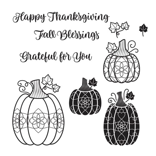 STP-046 Spellbinders CHARMING PUMPKINS Clear Stamps Preview Image