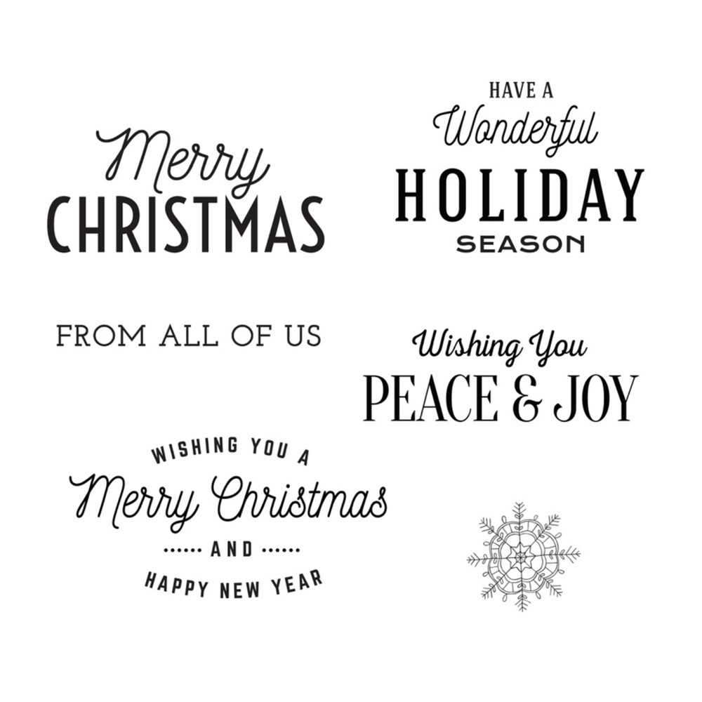 STP-056 Spellbinders CHRISTMAS TIME SENTIMENTS Clear Stamps zoom image