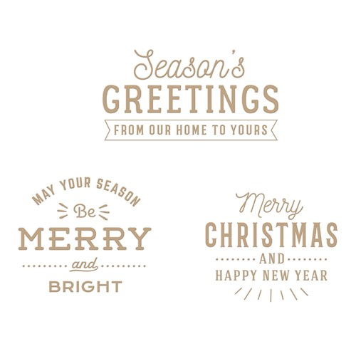 GLP-293 Spellbinders ESSENTIAL CHRISTMAS GREETINGS Glimmer Hot Foil Plates Preview Image