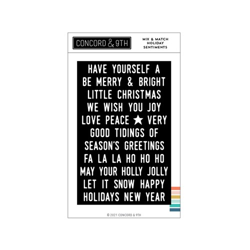 Concord & 9th MIX AND MATCH HOLIDAY SENTIMENTS Clear Stamp Set 11196 Preview Image