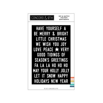 Concord & 9th MIX AND MATCH HOLIDAY SENTIMENTS Clear Stamp Set 11196