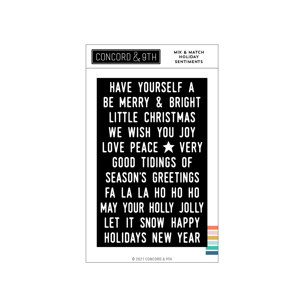 Concord & 9th MIX AND MATCH HOLIDAY SENTIMENTS Clear Stamp Set 11196 zoom image