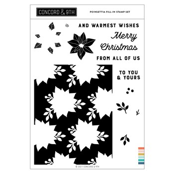 Concord & 9th POINSETTIA FILL-IN Clear Stamp Set 11202