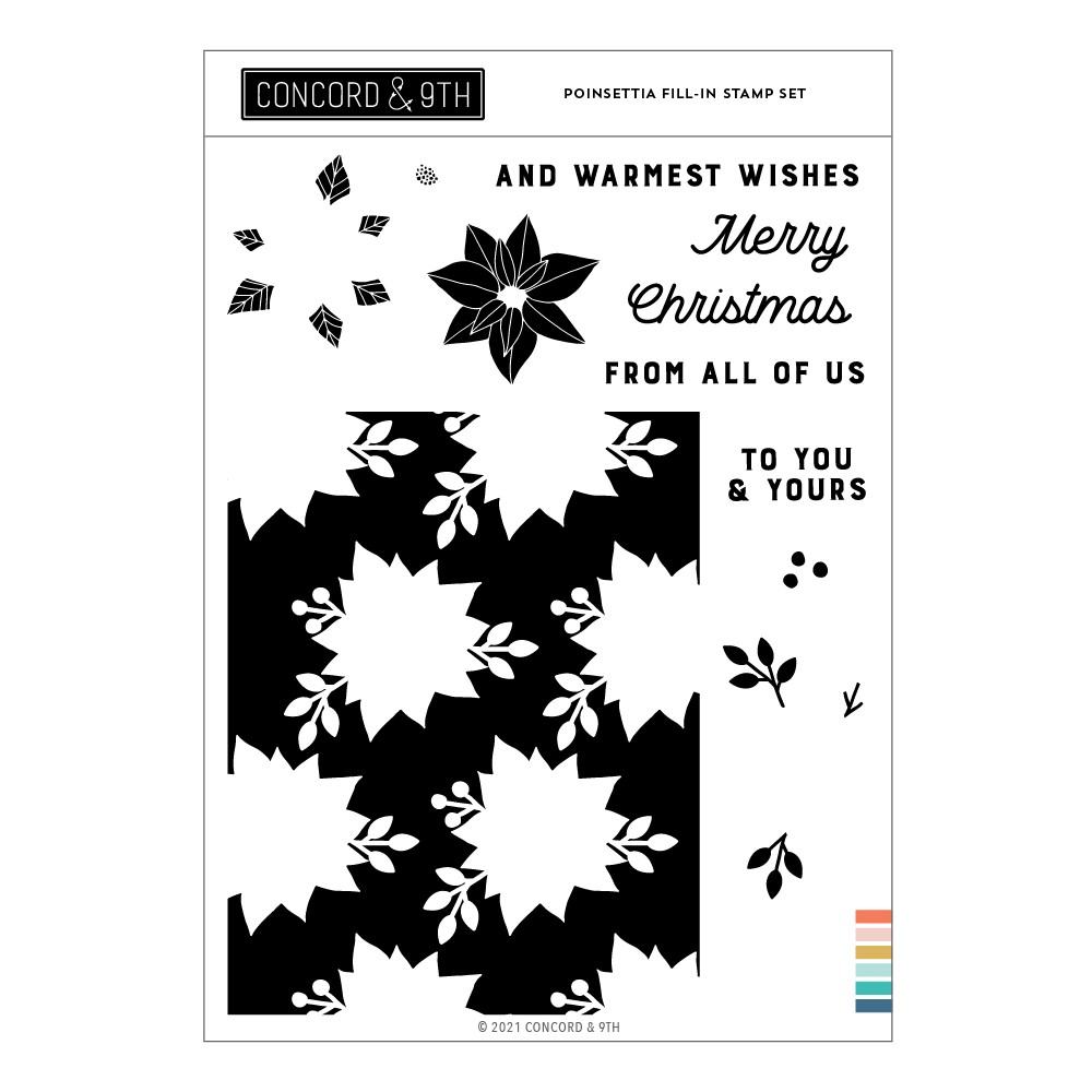 Concord & 9th POINSETTIA FILL-IN Clear Stamp Set 11202 zoom image