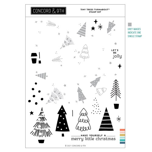 Concord & 9th TINY TREES TURNABOUT Clear Stamp Set 11205 Preview Image