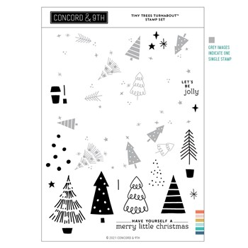 Concord & 9th TINY TREES TURNABOUT Clear Stamp Set 11205